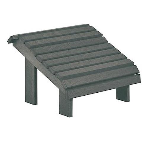 C.R. Plastic Products Adirondack - Slate Footstool