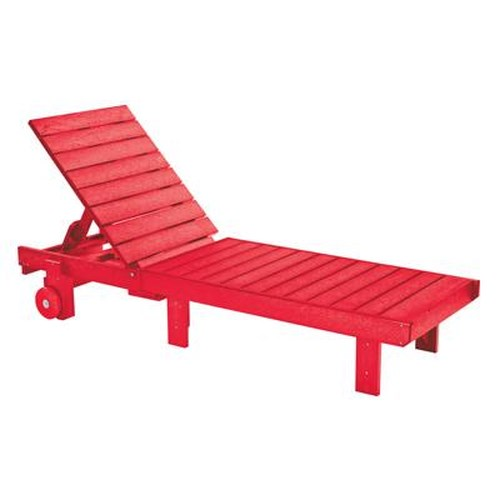 C.R. Plastic Products Adirondack - Red Chaise Lounger