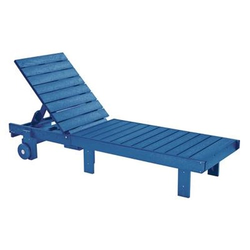 C.R. Plastic Products Adirondack - Blue Chaise Lounger