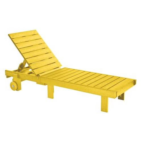 C.R. Plastic Products Adirondack - Yellow Chaise Lounger