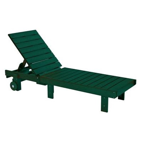 C.R. Plastic Products Adirondack - Green Chaise Lounger