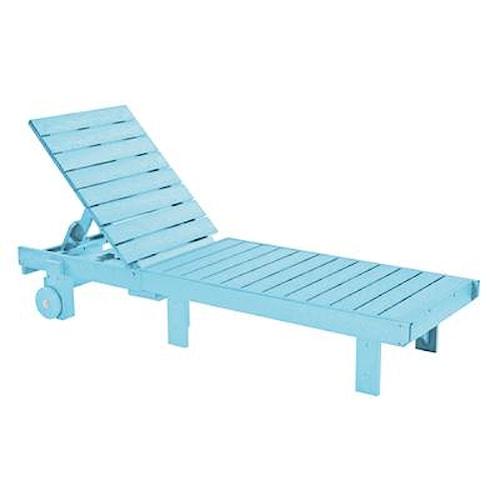 C.R. Plastic Products Adirondack - Aqua Chaise Lounger