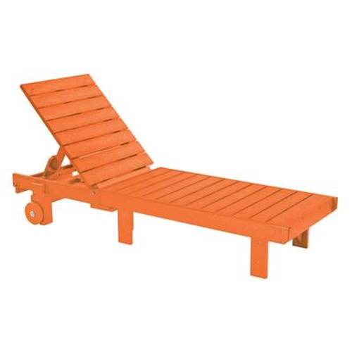 C.R. Plastic Products Adirondack - Orange Chaise Lounger