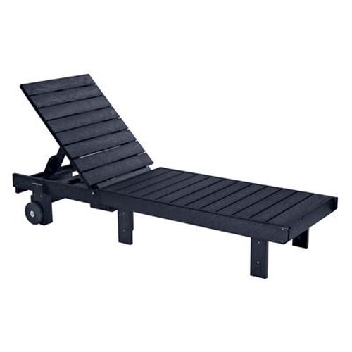 C.R. Plastic Products Adirondack - Black Chaise Lounger