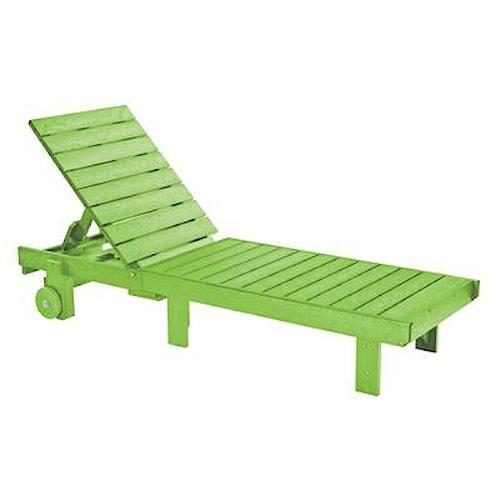 C.R. Plastic Products Adirondack - Kiwi Chaise Lounger