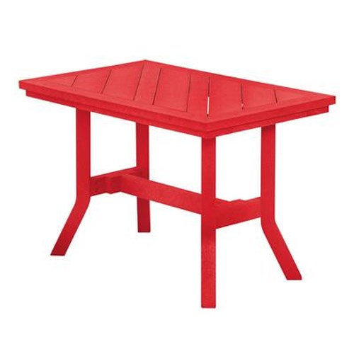 C.R. Plastic Products Adirondack - Red Addy End Table