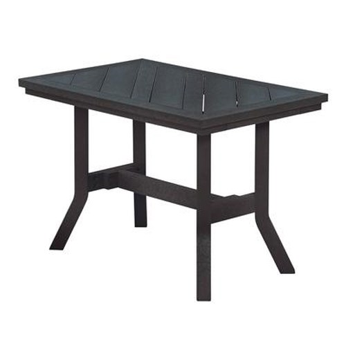C.R. Plastic Products Adirondack - Black Addy End Table