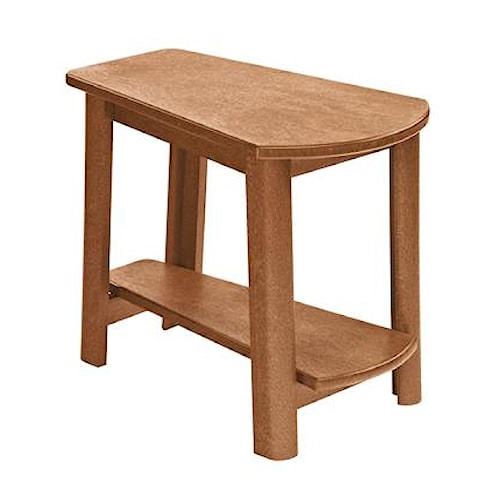 C.R. Plastic Products Adirondack - Cedar Addy Side Table