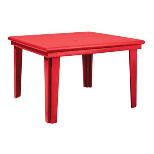 C.R. Plastic Products Adirondack - Red Square Dining Table