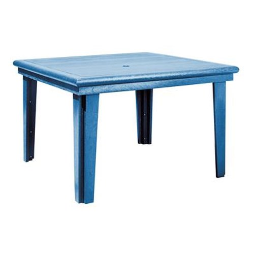 C.R. Plastic Products Adirondack - Blue Square Dining Table