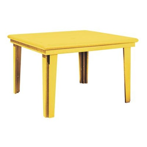 C.R. Plastic Products Adirondack - Yellow Square Dining Table