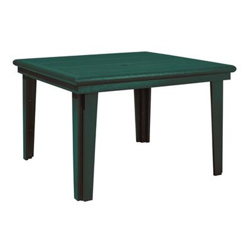C.R. Plastic Products Adirondack - Green Square Dining Table