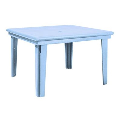 C.R. Plastic Products Adirondack - Sky Blue Square Dining Table