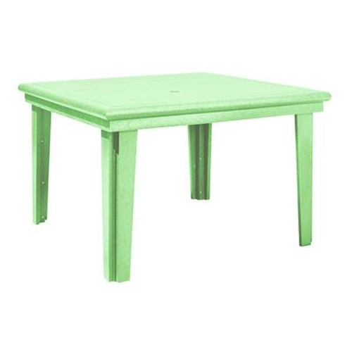 C.R. Plastic Products Adirondack - Lime Square Dining Table