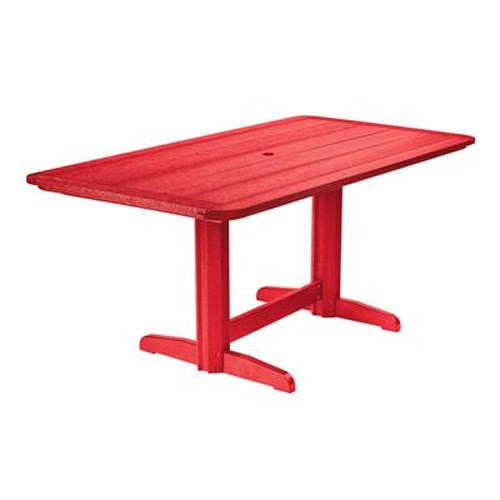 C.R. Plastic Products Adirondack - Red Rectangle Dining Table