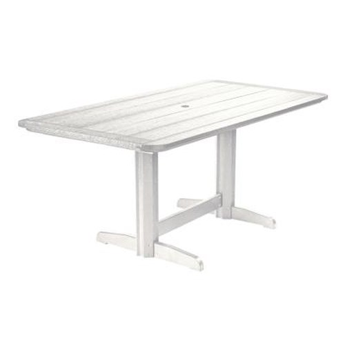 C.R. Plastic Products Adirondack - White Rectangle Dining Table