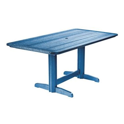 C.R. Plastic Products Adirondack - Blue Rectangle Dining Table