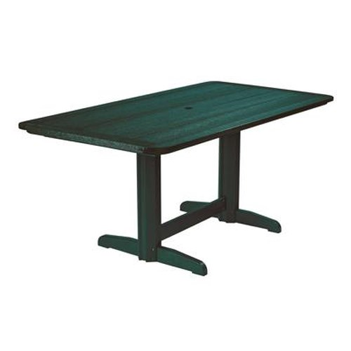 C.R. Plastic Products Adirondack - Green Rectangle Dining Table