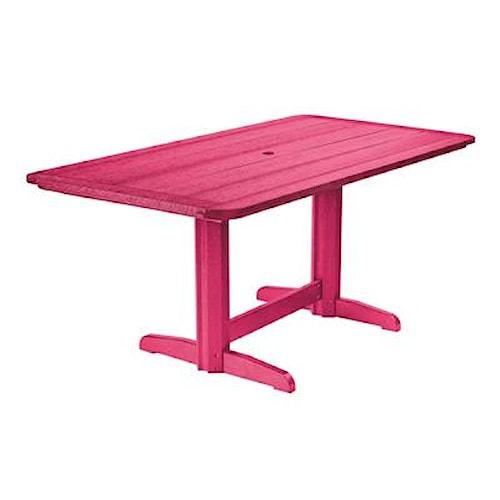C.R. Plastic Products Adirondack - Fuschia Rectangle Dining Table
