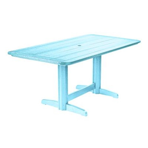 C.R. Plastic Products Adirondack - Aqua Rectangle Dining Table