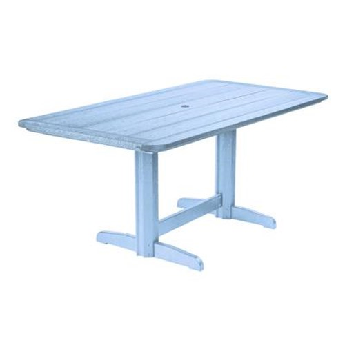 C.R. Plastic Products Adirondack - Sky Blue Rectangle Dining Table