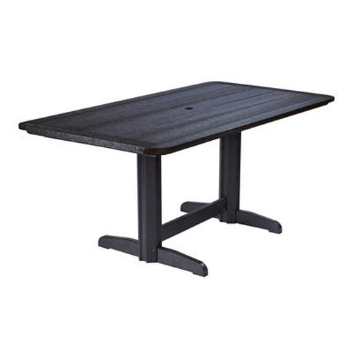 C.R. Plastic Products Adirondack - Black Rectangle Dining Table