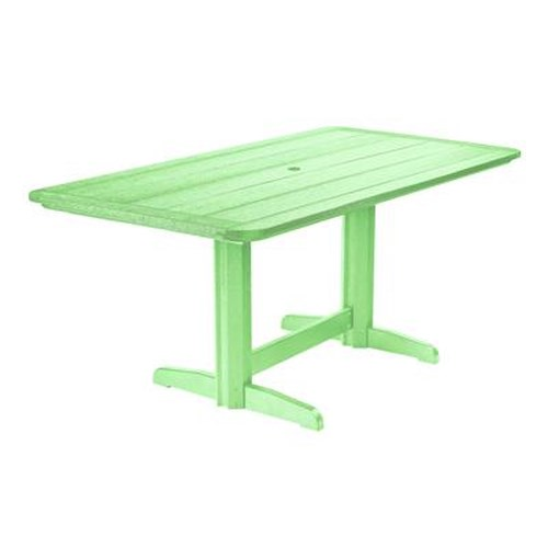 C.R. Plastic Products Adirondack - Lime Rectangle Dining Table
