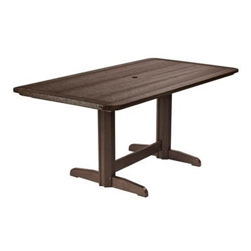 C.R. Plastic Products Adirondack - Chocolate Rectangle Dining Table
