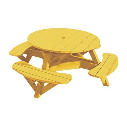 C.R. Plastic Products Adirondack - Yellow Picnic Table