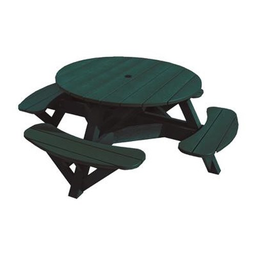 C.R. Plastic Products Adirondack - Green Picnic Table