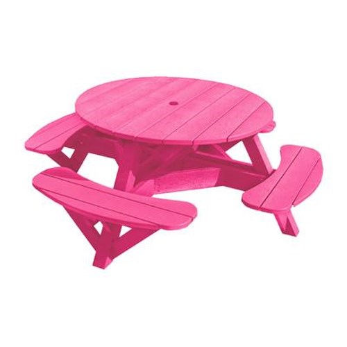 C.R. Plastic Products Adirondack - Fuschia Picnic Table