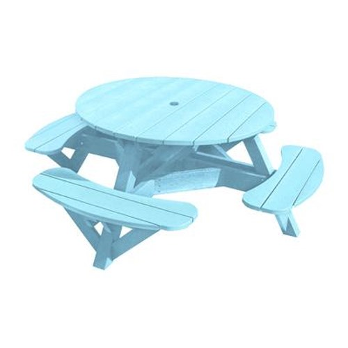 C.R. Plastic Products Adirondack - Aqua Picnic Table