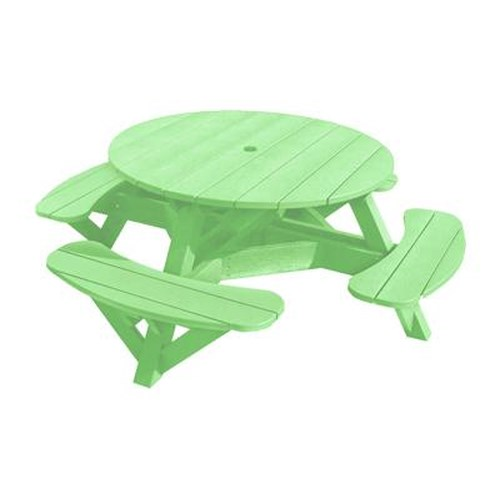 C.R. Plastic Products Adirondack - Lime Picnic Table