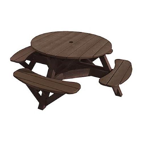 C.R. Plastic Products Adirondack - Chocolate Picnic Table