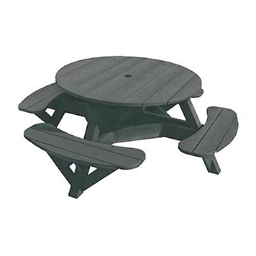 C.R. Plastic Products Adirondack - Slate Picnic Table