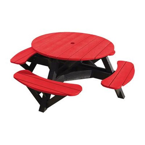C.R. Plastic Products Adirondack - Red Picnic Table w/ Interchangeable Top