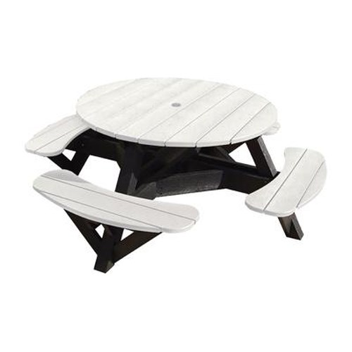 C.R. Plastic Products Adirondack - White Picnic Table w/ Interchangeable Top