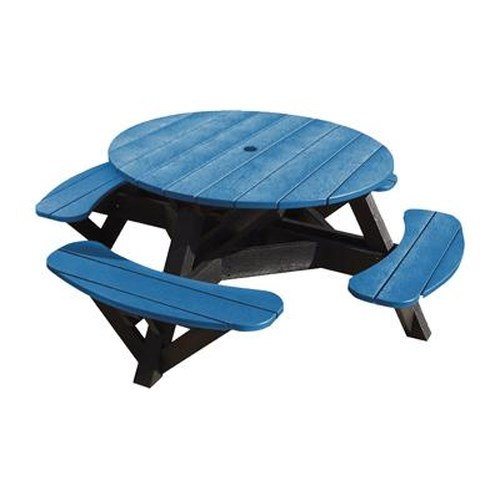 C.R. Plastic Products Adirondack - Blue Picnic Table w/ Interchangeable Top