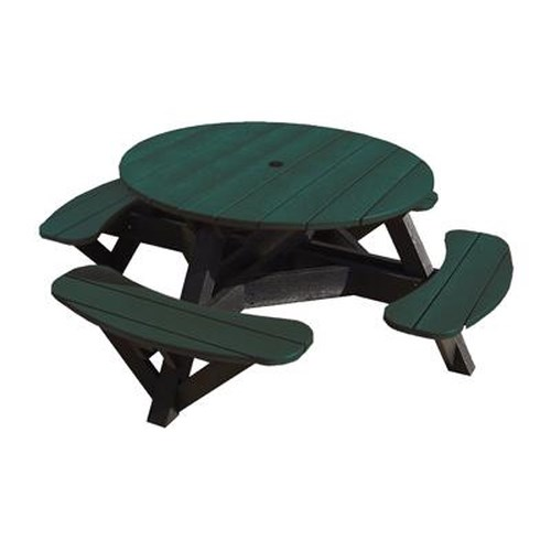 C.R. Plastic Products Adirondack - Green Picnic Table w/ Interchangeable Top