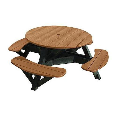 C.R. Plastic Products Adirondack - Cedar Picnic Table w/ Interchangeable Top