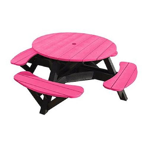 C.R. Plastic Products Adirondack - Fuschia Picnic Table w/ Interchangeable Top
