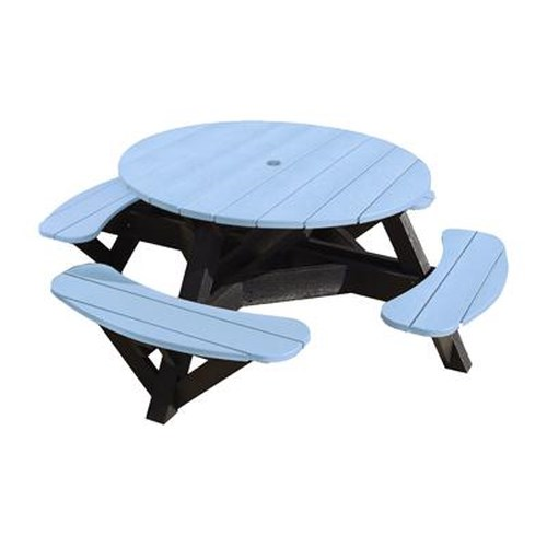 C.R. Plastic Products Adirondack - Sky Blue Picnic Table w/ Interchangeable Top
