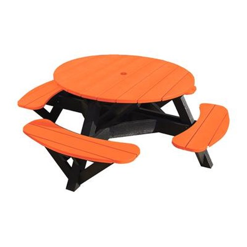 C.R. Plastic Products Adirondack - Orange Picnic Table w/ Interchangeable Top