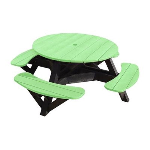 C.R. Plastic Products Adirondack - Lime Picnic Table w/ Interchangeable Top