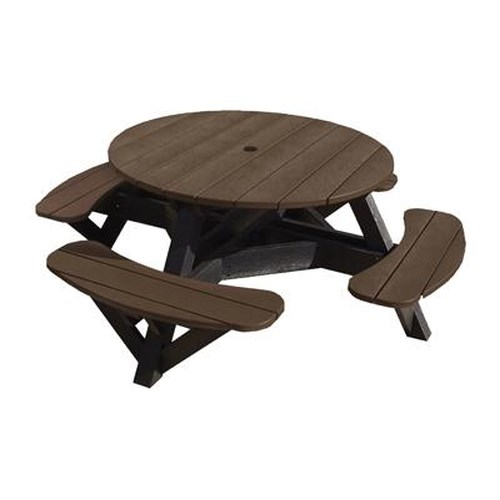 C.R. Plastic Products Adirondack - Chocolate Picnic Table w/ Interchangeable Top