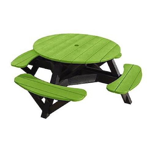 C.R. Plastic Products Adirondack - Kiwi Picnic Table w/ Interchangeable Top