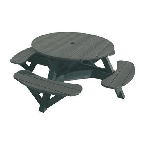 C.R. Plastic Products Adirondack - Slate Picnic Table w/ Interchangeable Top
