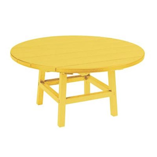 C.R. Plastic Products Adirondack - Yellow Cocktail Table
