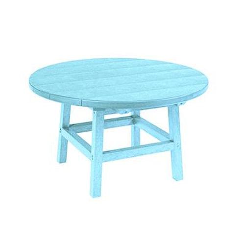 C.R. Plastic Products Adirondack - Aqua Cocktail Table