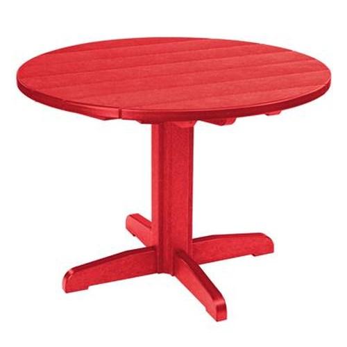 C.R. Plastic Products Adirondack - Red Dining Pedestal
